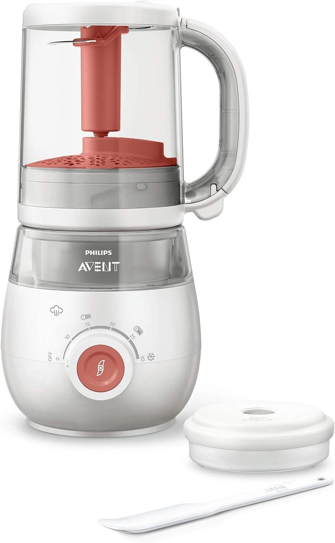 Philips AVENT SCF881/01 fabricante de comida de bebé 0,12 L - Fabricantes de comida de bebé (0,12 L, Rojo, Blanco, 220-240 V, 50-60 Hz, 0,7 m): Amazon.es: Bebé