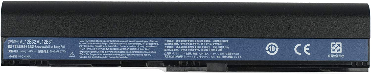 Yafda AL12B32 4-Cell New Laptop Battery for Acer Aspire One 725 756 Aspire V5-121 V5-131 V5-171 TravelMate B1 B113 B113-E B113-M Chromebook C7/AC710 Series 14.8V37Wh/2500mAh