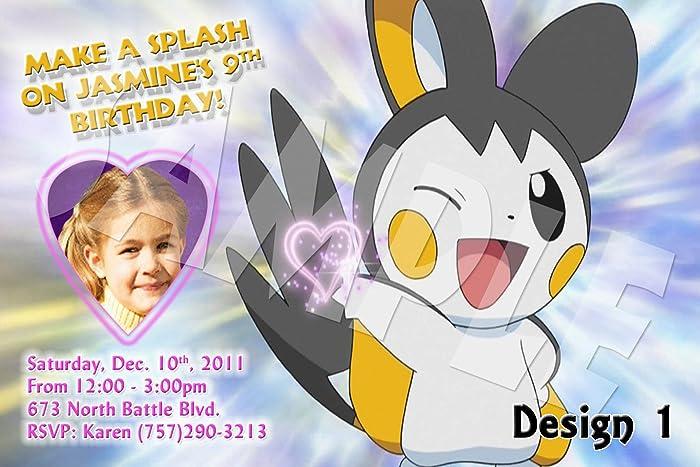 Pokemon Personalized Birthday Invitations More Designs Inside