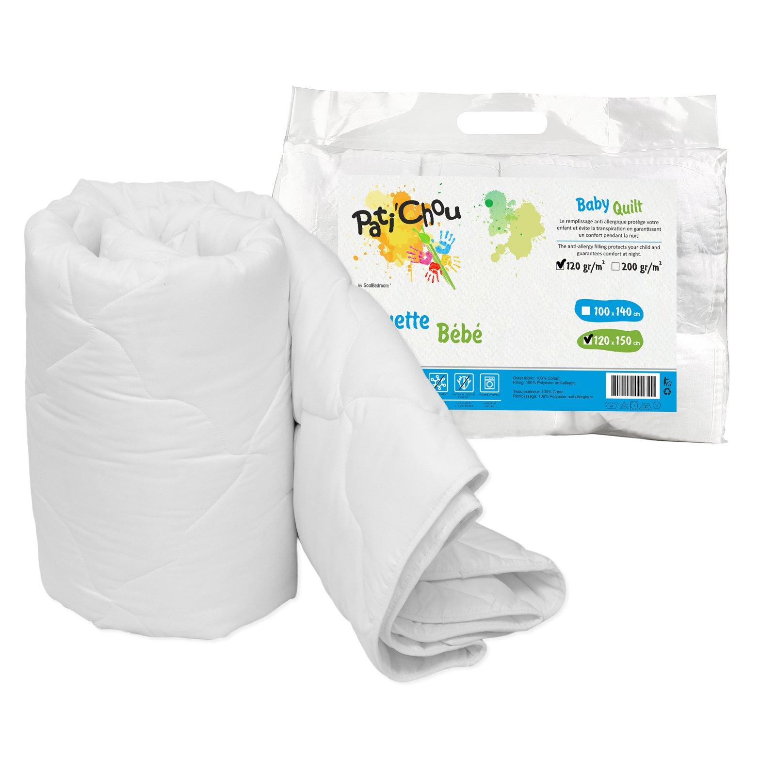 Pati'Chou 47''x 59'' Kids Baby Light Quilt Duvet (100% Cotton Cover, tog 2.5) 120x150 cm by Pati'Chou