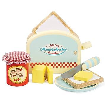d07eb7732 Le Toy Van Honeybake Wooden Toaster Set: Amazon.co.uk: Toys & Games