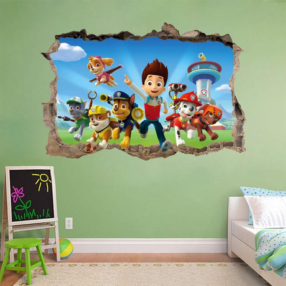 Amazon.com: PAW PATROL Smashed Wall 3D Decal Removable Graphic Wall Sticker  Mural Kids H149, Large: Home U0026 Kitchen Part 40