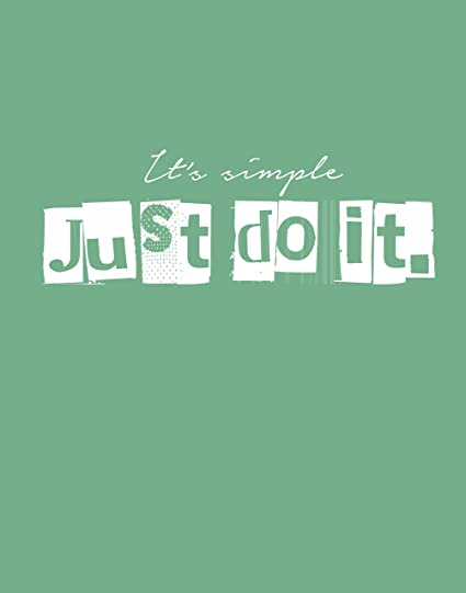 Amazon.com: My Vinyl Story Just do it Motivational ...