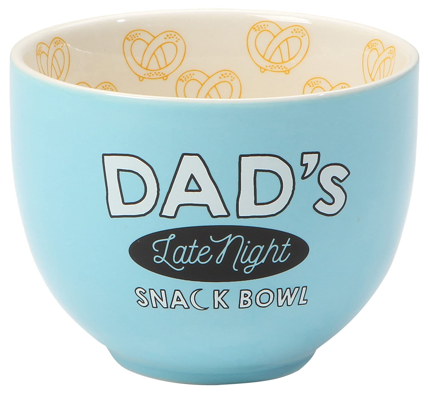 "Our Name is Mud ""Dad's Late Night Snack Bowl"" Blue Stoneware Bowl, 4""x5"" 4""x5"" Enesco 6001058"