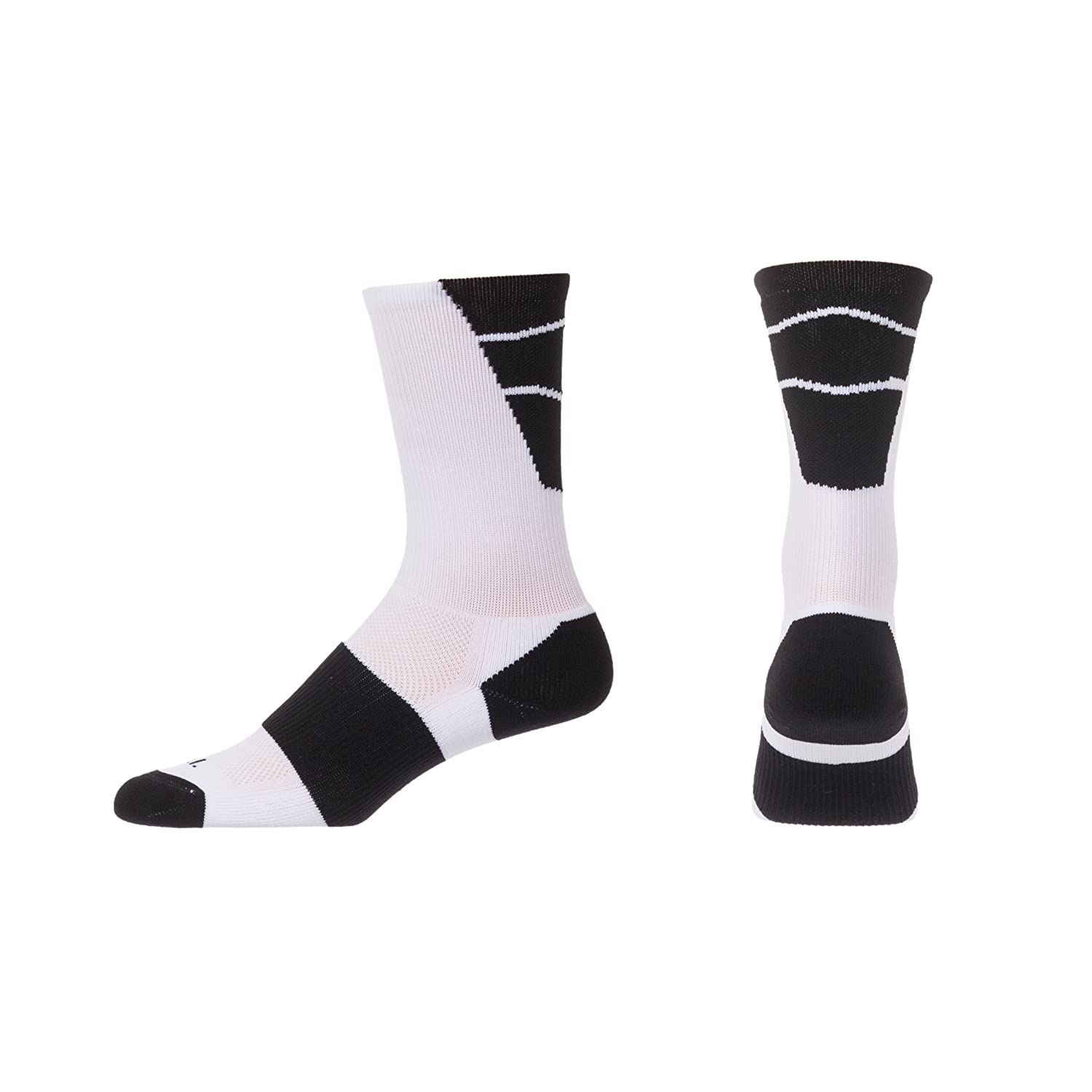 CSI Point Guard Performance Crew Socks Made In The USA White//Black