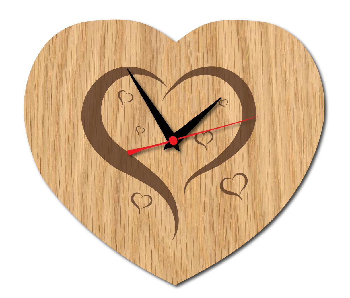 Wooden Heart Clock Or Wall Sign Wall Clock Amazon Kitchen