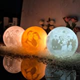 NSL Lighting Moon Lamp Moon Light Moon Night Light 3D Printed Moon Lamp Personalized Moon Lamp 4.8Inch Personalized Lamp with