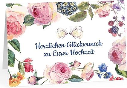 XXL tarjeta de felicitación para Boda/DIN A4/Vintage Flores con ...