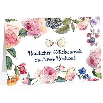 XXL tarjeta de felicitación para Boda/DIN A4/Vintage Flores ...