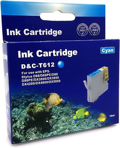D & C Cartuchos de impresora (No Original) para Epson D68 D68PE ...