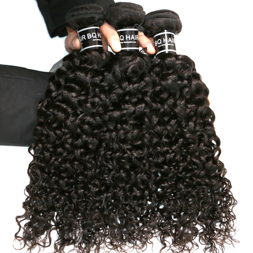 BQ HAIR Deep Curly 360 Frontal with Bundles 8A 100% Unprocessed Virgin Brazilian Human Hair -3 Bundles with 360 Lace Frontal Closure Pre Plucked (18''20''22''&16'') by BQ HAIR (Image #4)