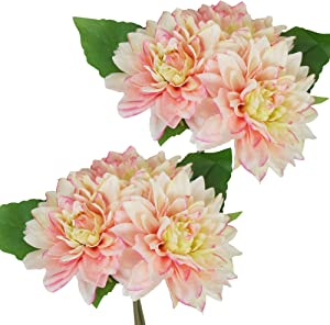 Lily Garden Dahlia Artificial Flowers Set of 6 (Pink)