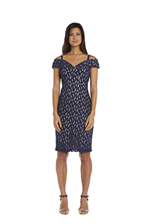 49a5b0e1323 R M Richards Women s One Piece Missy Short Off The Shoulder Dress at Amazon  Women s Clothing store