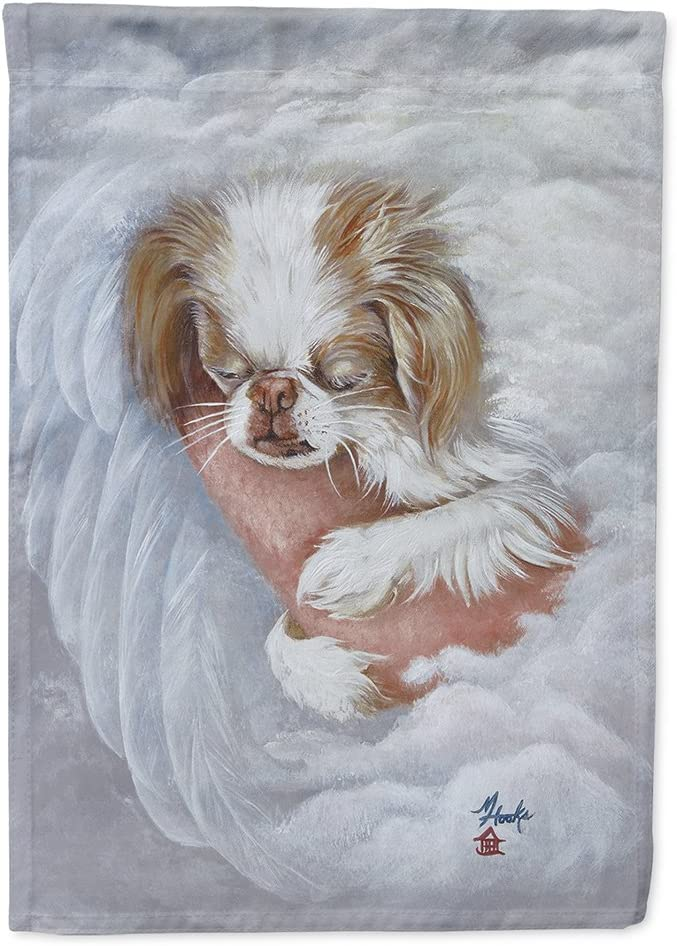 Caroline's Treasures MH1037GF Japanese Chin in an Angels Arms Flag Garden Size, Small, Multicolor