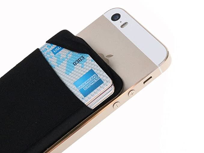 820e6a311884 Credit Card Wallet Card Holder for Back of Phone Sticker with One Slot  Secure ID Holder Adhesive Card Sleeve for iPhone 6/ iPhone 7/ Samsung ...