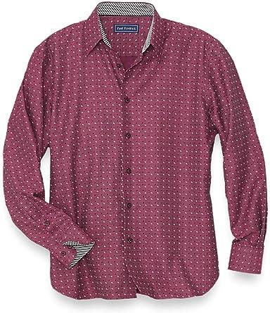 Paul Fredrick Mens Cotton Twill Box Short Sleeve