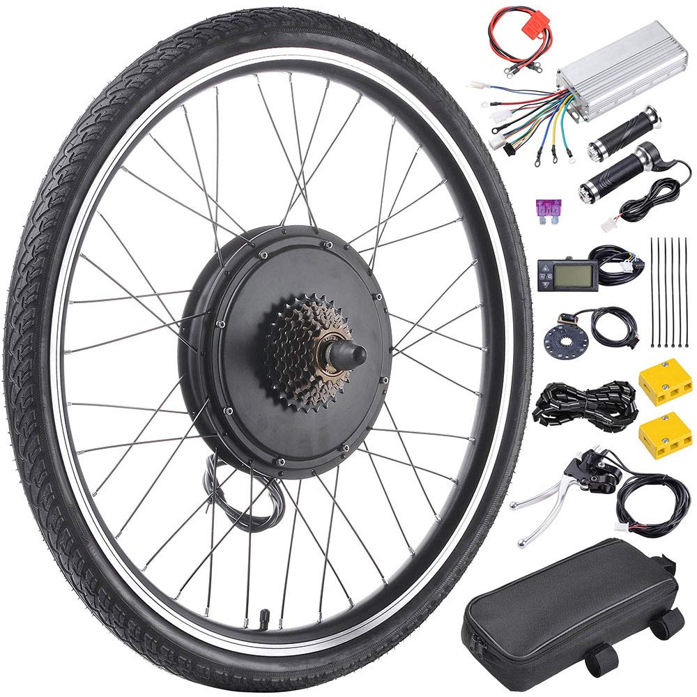 ReaseJoy 26' Front Wheel E-bike Motor Kit E-Bike Conversion Electric Bicycle Kit 36V 750W with LCD Display & 5 Model PAS Generic