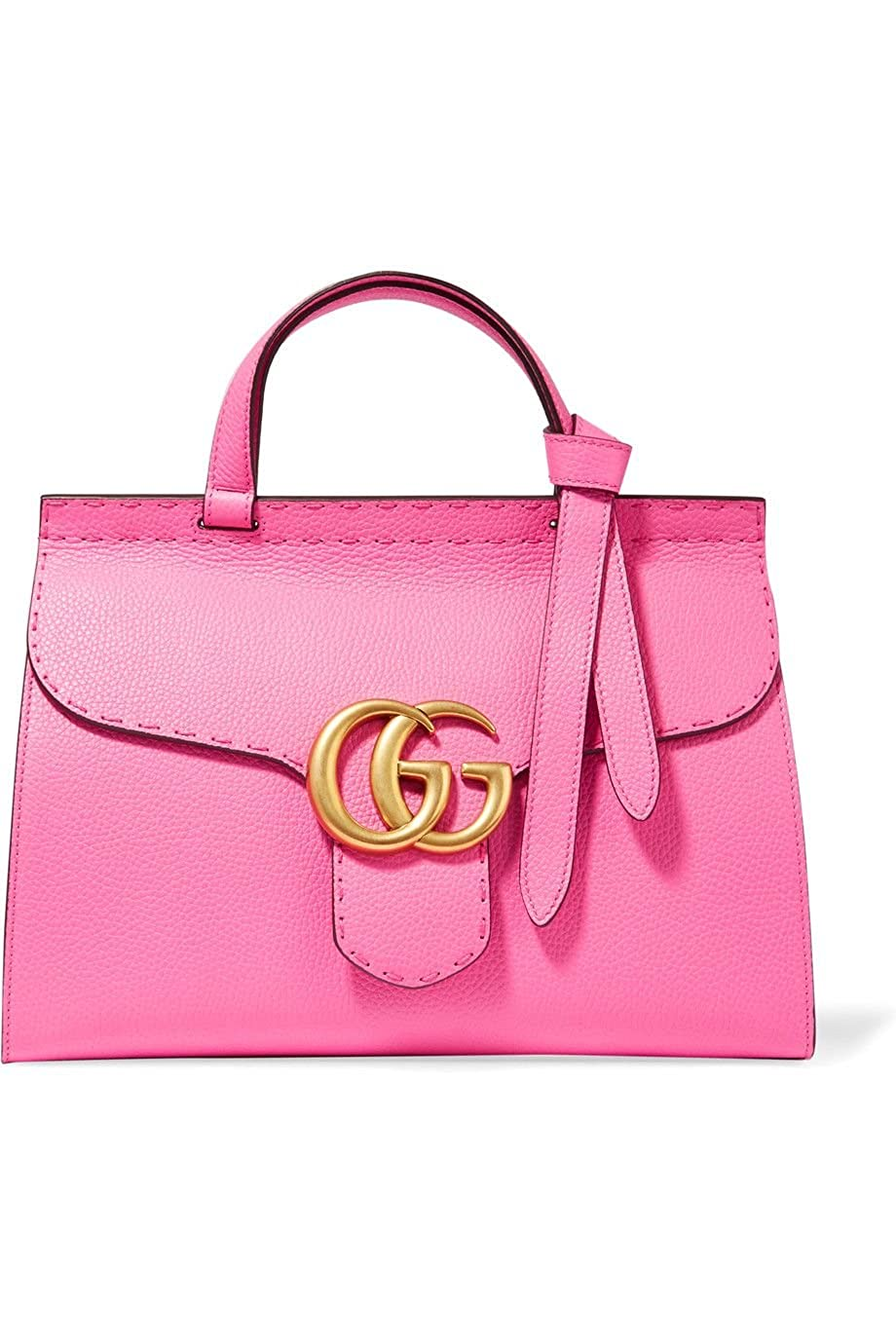 191e93f43852 Amazon.com: Gucci Marmont Pink Tropical Flower Bag Top Shoulder Box Leather  Italy Gold New: Shoes