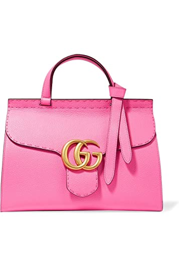 be113aa6c57a Amazon.com: Gucci Marmont Pink Tropical Flower Bag Top Shoulder Box Leather  Italy Gold New: Shoes