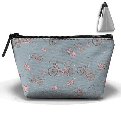 chic Bike Love Life Cartoon Cosmetic Bag Handbag/Wrist Bag/Clutch Bag/Cell Phone Bag/ Ladies Purse