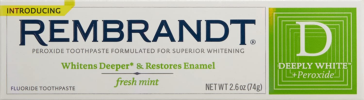 REMBRANDT® DEEPLY WHITE® + Peroxide Fresh Mint Toothpaste RANIR/DCP INC 49336436008