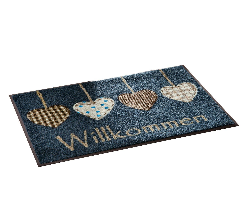 Wash+dry Fußmatte blau Größe 75x120 cm