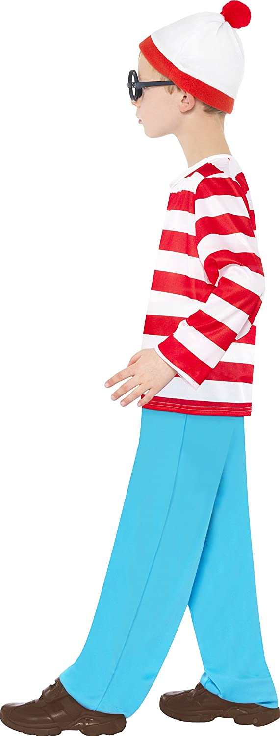 Smiffy s 39971t Where s Wally Disfraz Infantil (tamaño): Amazon ...