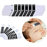 Forehead Thermometer Strips, Adhesive Thermometer for Baby Kids Adults,Travel-Sized & Reusable(20 Pack)