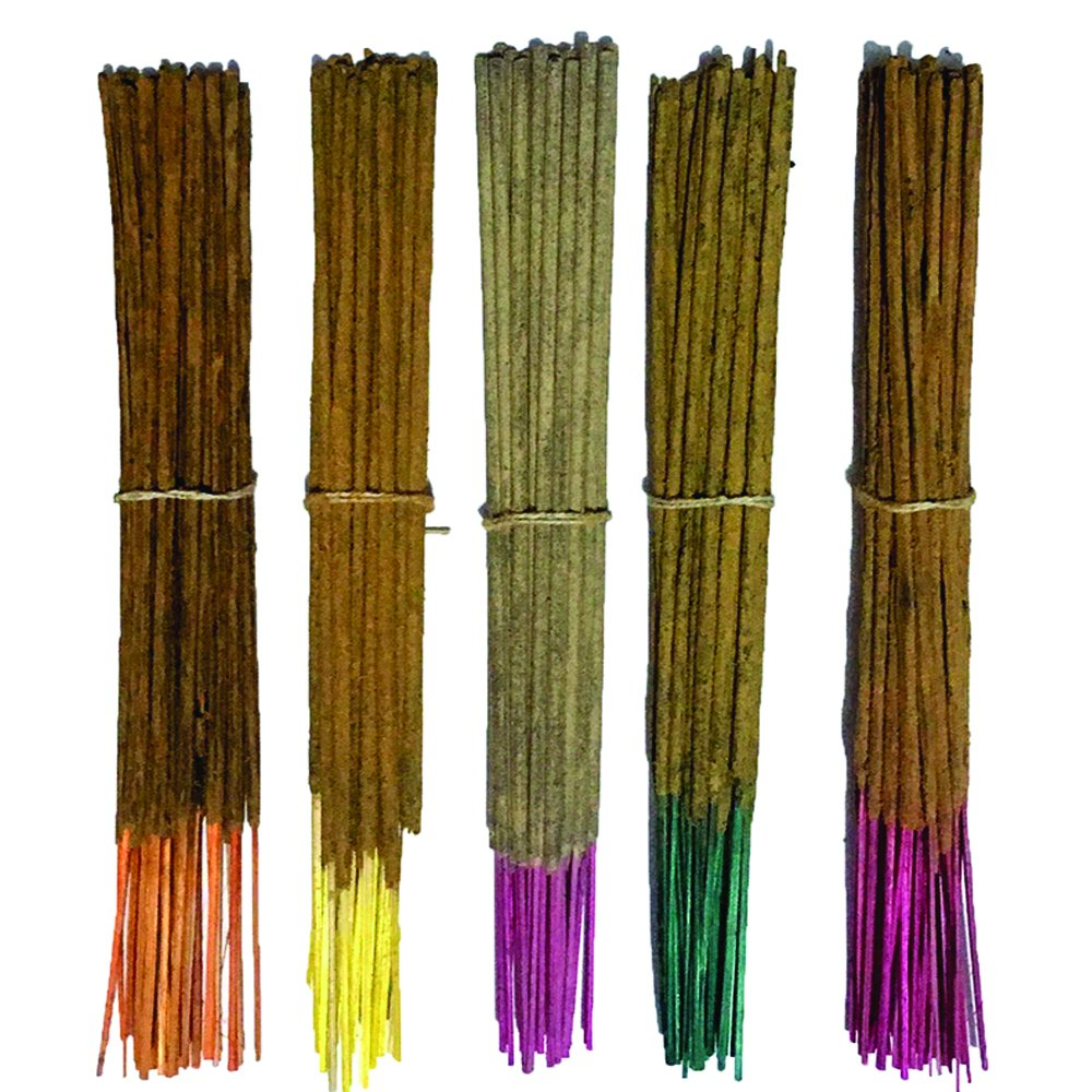 INAKI Hand Made Incense Sticks Premium 5 Fragrance infused with Essential Oils Pack 40gm Each - Natural Long Lasting Home & Indoor Fragrance (200 gram pack)