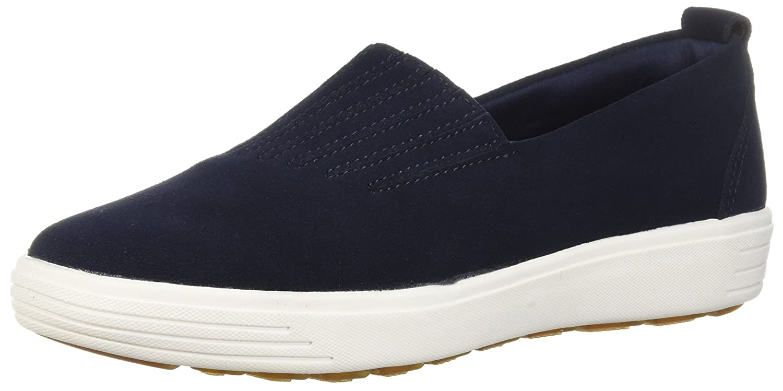 Navy Skechers Womens Comfort Air - Europa - Gored Slip-on Sneaker, Skech-air Midsole & Classic Fit Sneaker