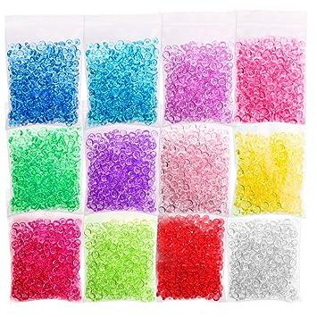 candyhome 12 Pack perlas de perlas de Pecera claro florero Filler crujientes Slime cuentas para manualidades
