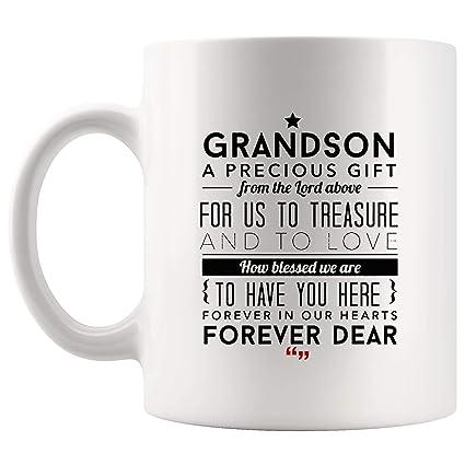 Amazoncom Grandson Precious Gift Forever Heart Mug Worlds