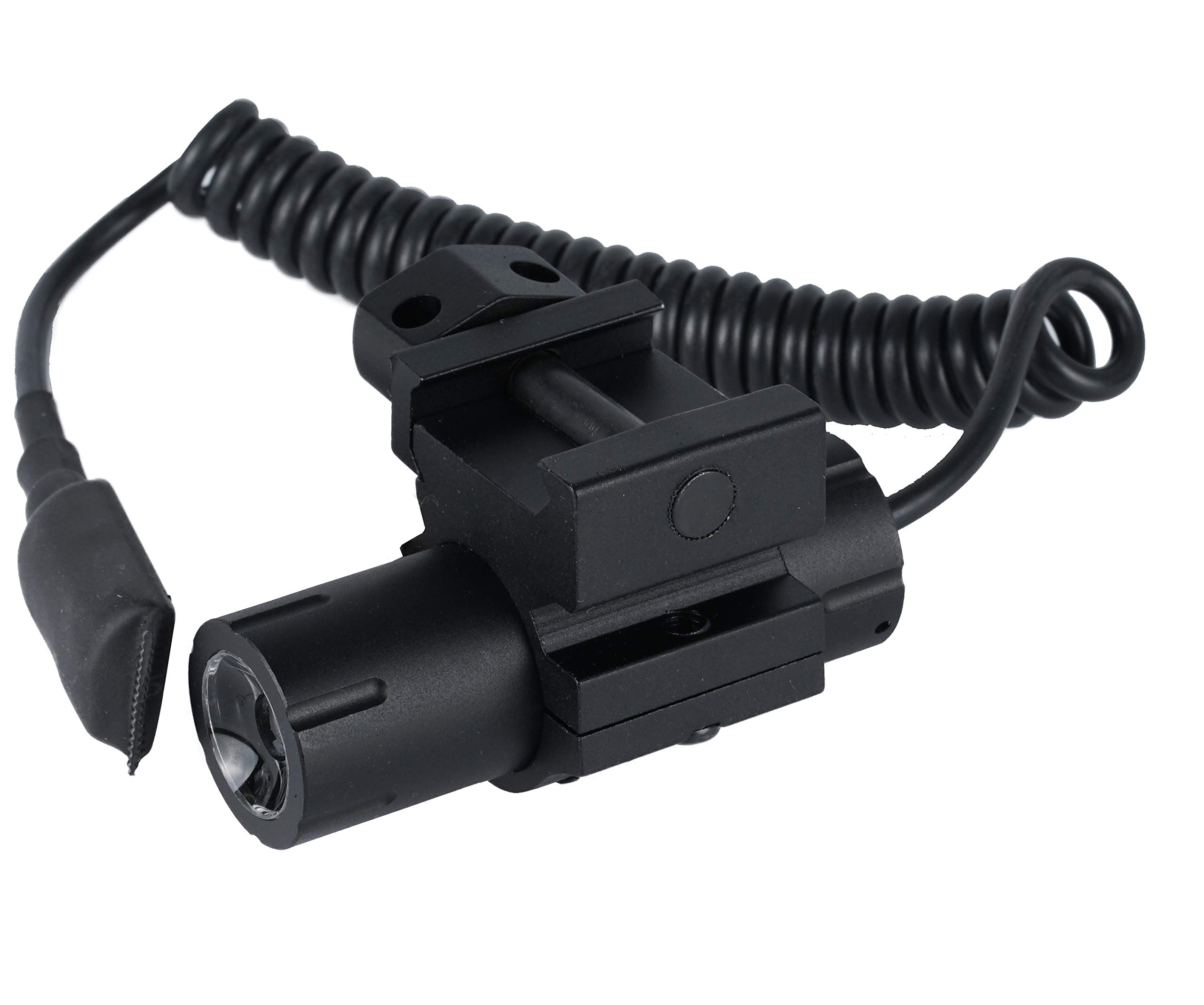 Black Monstrum 100 Lumens Ultra-Compact Flashlight with Rail Mount and