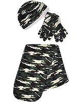 Women's Camo Polyester Fleece Winter Set