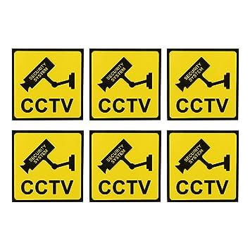 ANNKE 6Pcs Cartel Videovigilada Alarma Conectada Aviso a ...