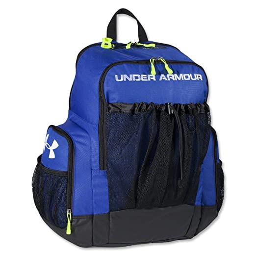 2c2690819a Amazon.com   Under Armour Striker Soccer Backpack Royal Size One Size    Lacrosse Equipment Bags   Sports   Outdoors