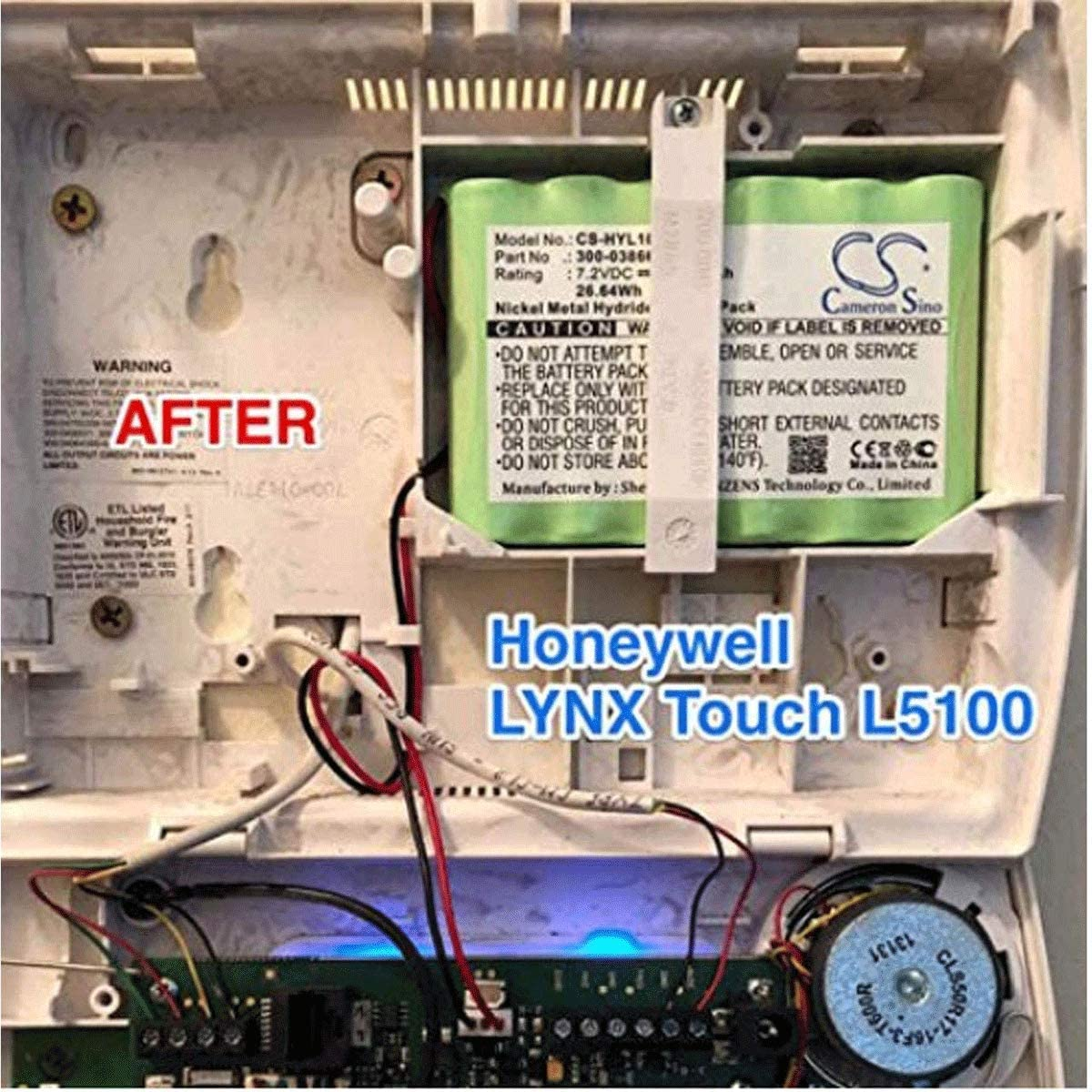 GLESOURCE 300-03864-1 1100mAh Backup Battery for ADT ADI Ademco Lynx WALYNX-RCHB-SC Honeywell Lynx Touch K5109 L5000 L5100 L3000