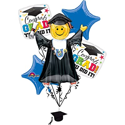 Anagram Grad You Did It Party Supplies Balloon Bouquet: Toys & Games