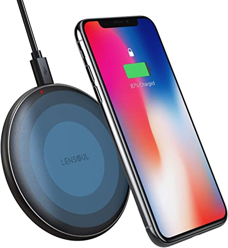 Wireless Charger, Lensoul Wireless Charging Pad Leather