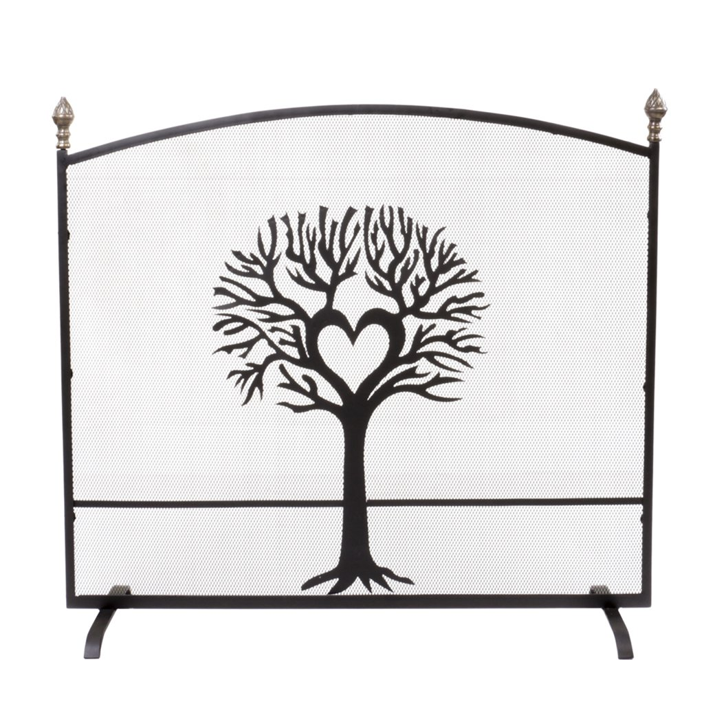 Free Standing Fine Mesh Panel Fireplace Guard Spark and Flame Safety Screen Dibor