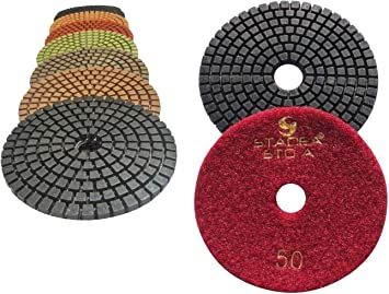 Diamond Polishing Pads 5 inch Dry 30+1 Piece /& Backer Pad Granite Concrete Stone