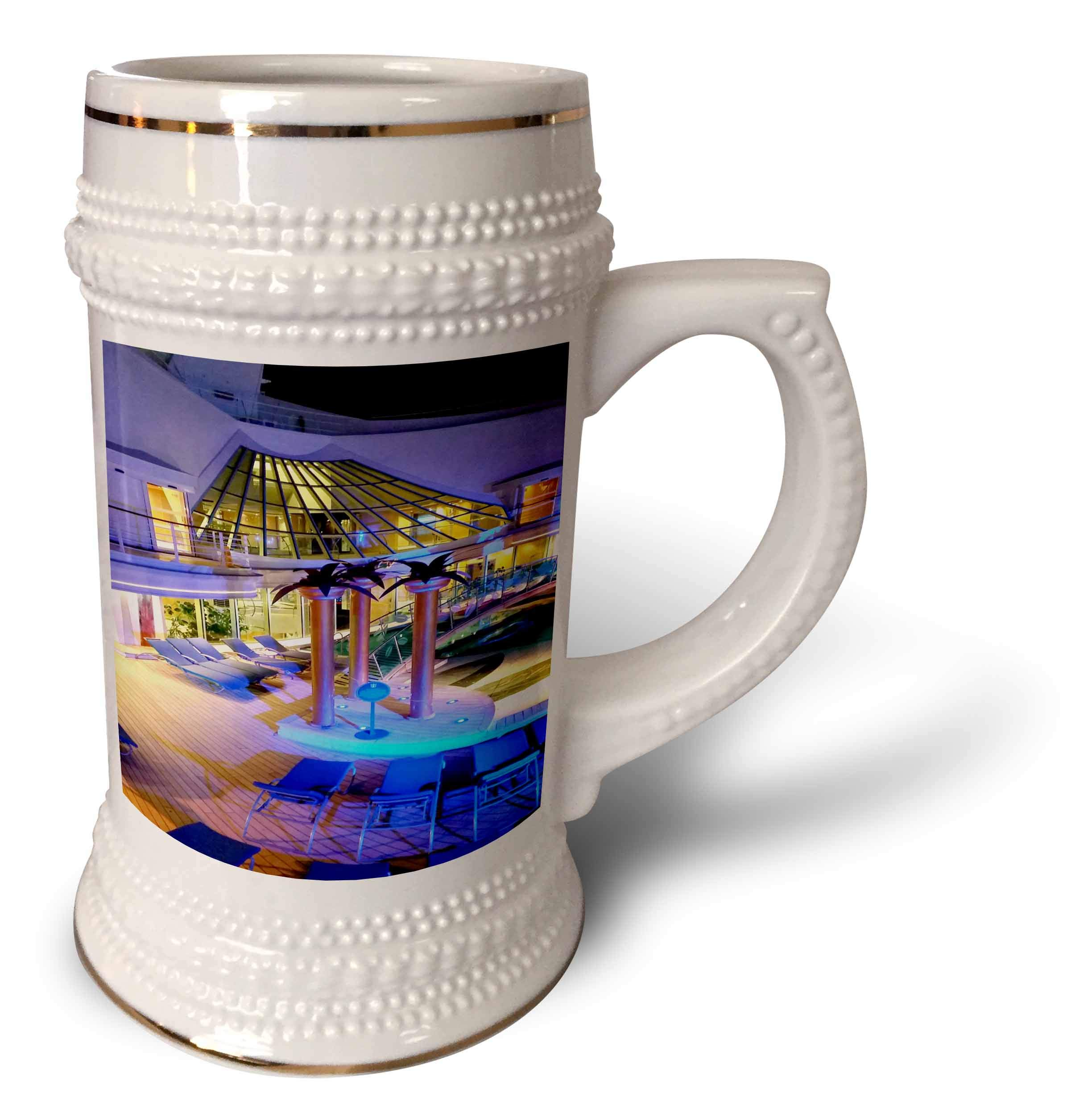 3dRose Lens Art by Florene - Cruise Ship Sites - Image of Adult Pool Area With Spa - 22oz Stein Mug (stn_291436_1)