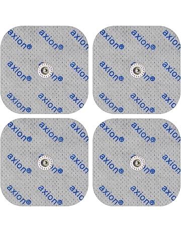 4 electrodos para electroestimuladores COMPEX - Set parches para TENS EMS conexión de botón (50x50mm