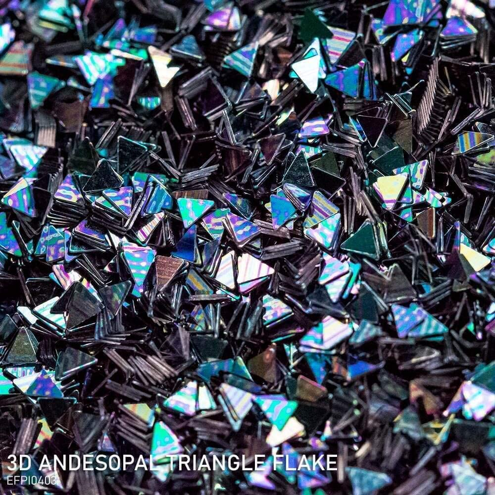 Effektpigment 3D Andesopal Triangle Flake Glitter Polyester EFfekt Farbpigment f/ür Epoxidharz Resin Epoxy Autolack Aquarell Seife Kunst Geode