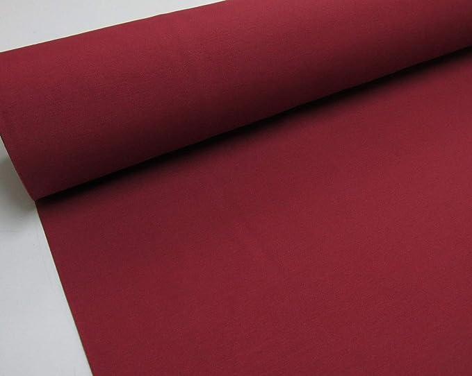 Confección Saymi - Metraje 2,45 MTS. Tejido loneta Lisa Nº 133 Rojo Burdeos con Ancho 2,80 MTS.: Amazon.es: Hogar