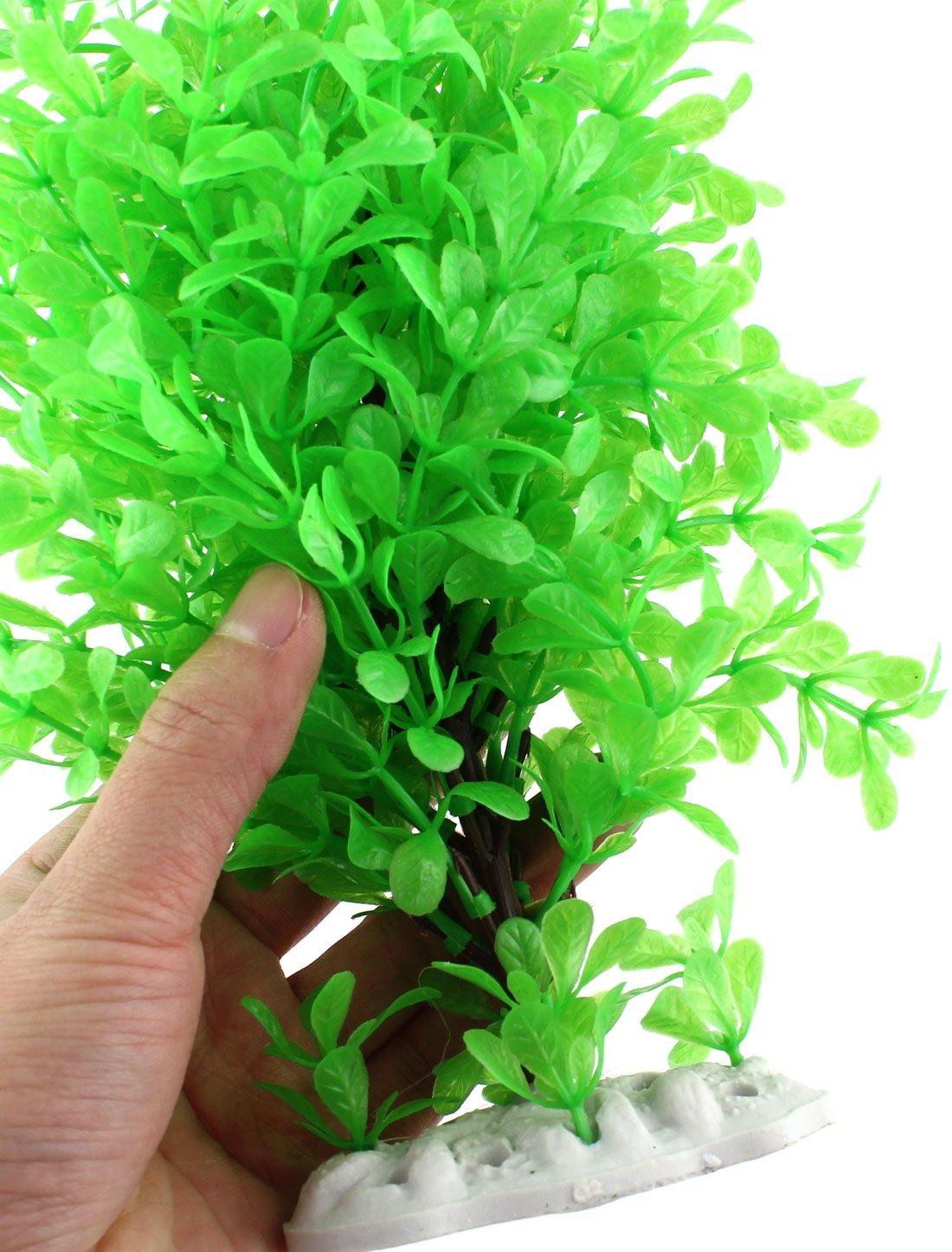 Amazon.com : eDealMax Ornamento planta acuática de cerámica Base de Emulational 24cm Altura Verde : Pet Supplies