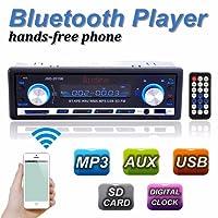 Audew Autoradio Bluetooth Stereo Auto Lecteur MP3 de VoitureISO FM USB AUX SD Noir
