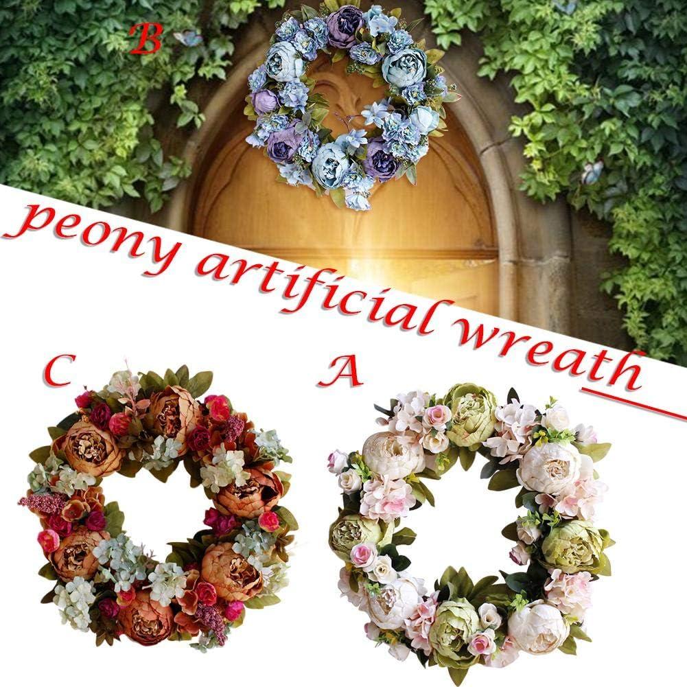 Couronne de fleurs en couronne faite /à la main Magnifique d/écoration pour le printemps et P/âques By Pultus