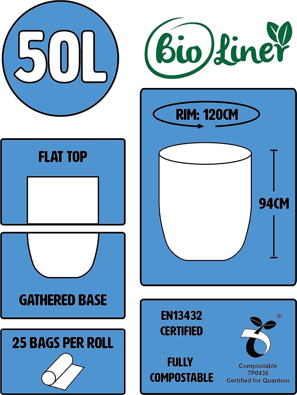 50 litros x 100 bolsas de basura biodegradables agricultor ...