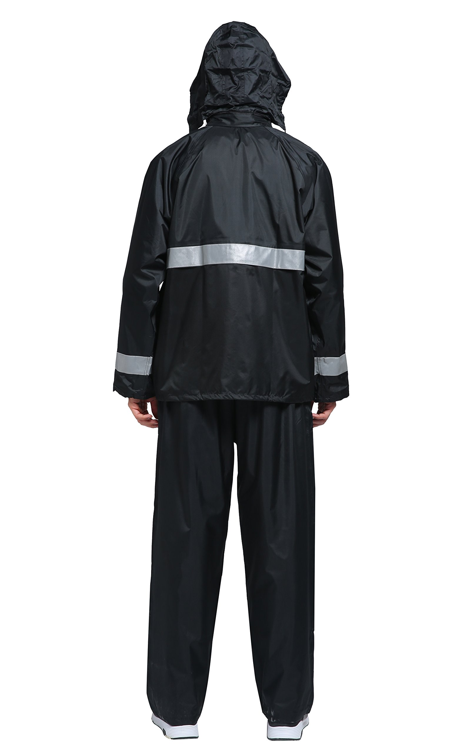 Maiyu Motorcycle Rain Suit Waterproof Rain Jacket and Pants Set 2 Piece Rain Gear For Adult by Maiyu (Image #3)